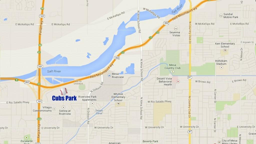 Cubs Park Area Map