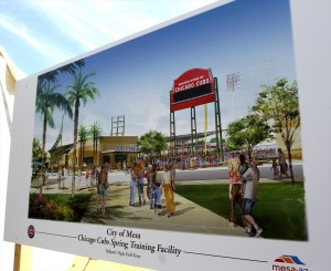 Rendering of new Cubs complex