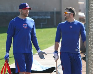Cubs Nate Schierholtz and David DeJesus
