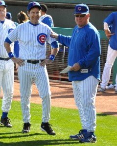 Tim Sheridan and WGN Cubs broadcaster Keith Moreland