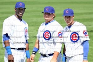 Cubs Jorge Soler, Dan Vogelbach, Javier Baez