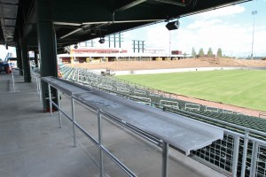You'll be able to get your food and see the game! No interior tunnel concourse like Hohokam.