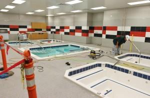 Aqua therapy room.