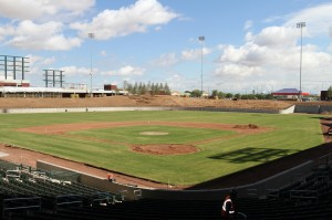 The field as seen looking NE towards centerfield.