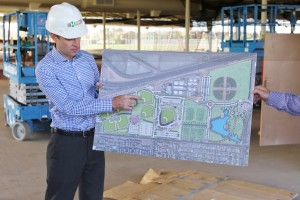 Justin Piper, Cubs General Manager Spring Training Business Operations led the tour.