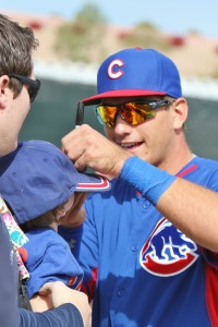 Cubs Albert Almora signs for young fan