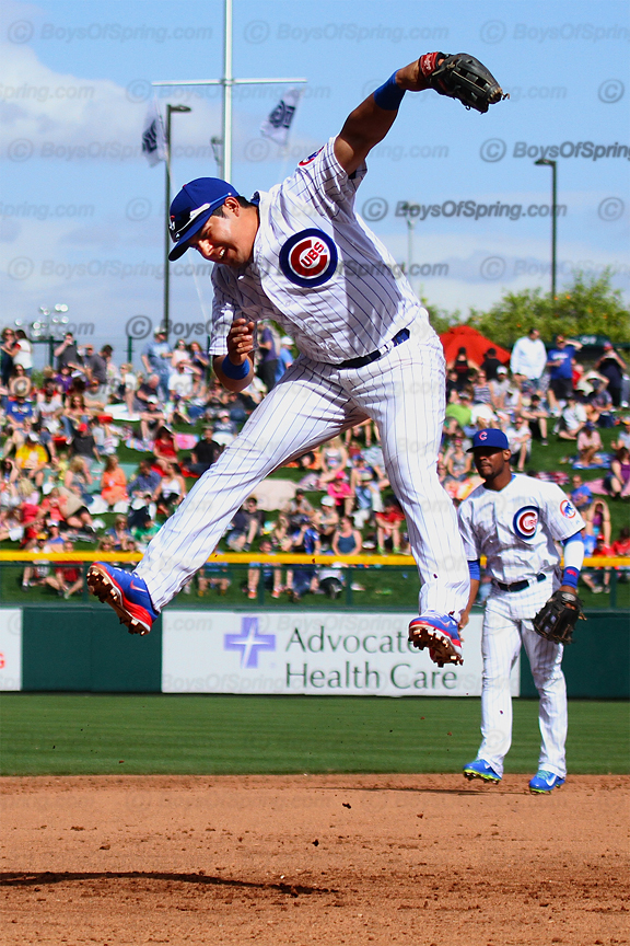 Christian Villanueva in Cubs Park opening game