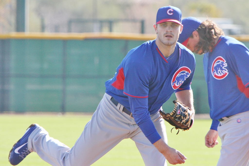 Cubs pitcher Justin Grimm works out at Cubs Park