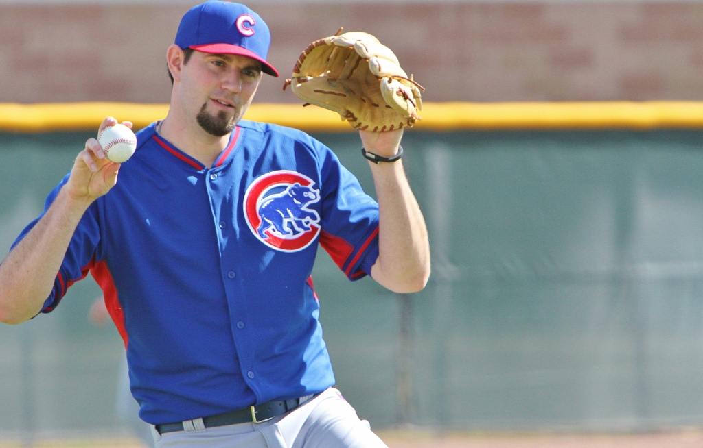 New Cubs Pitcher Jason Hammel at new Cubs Park