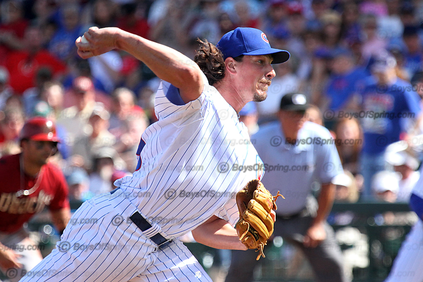 Jeff Samardzija throws first pitch ever at Cubs Park