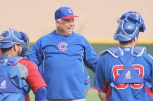 Cubs Manager Rick Renteria has a good laugh