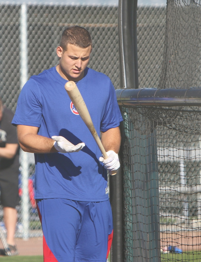 Cubs Anthony Rizzo at new Cubs Park in Mesa, AZ