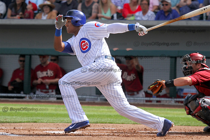 Starlin Castro gets hit in Cubs Park