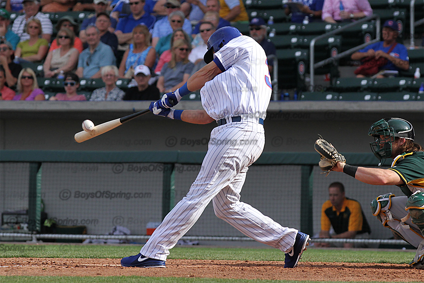 Mike Olt pounds a two-run HR in eight inning for Cubs frist win at Cubs Park