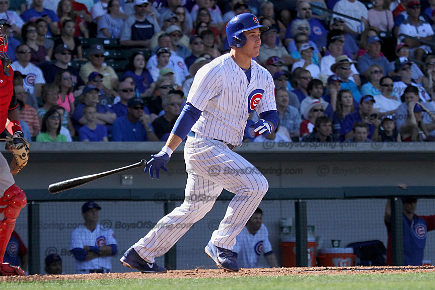 Anthony Rizzo another hit vs Reds, he was 3-3.