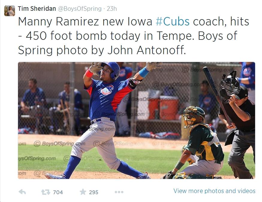 Manny Ramirez Twitter