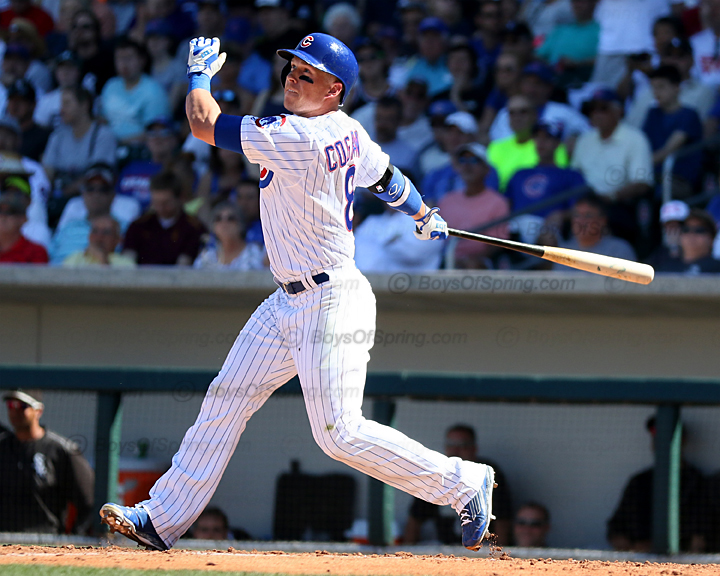 Chris Coghlan goes opposite field with a blast