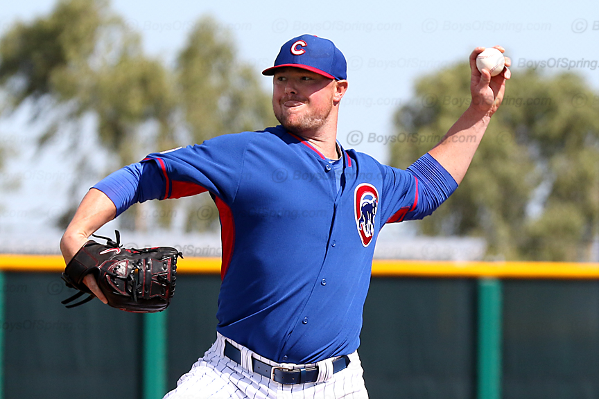 Jon Lester pitching in minor league game