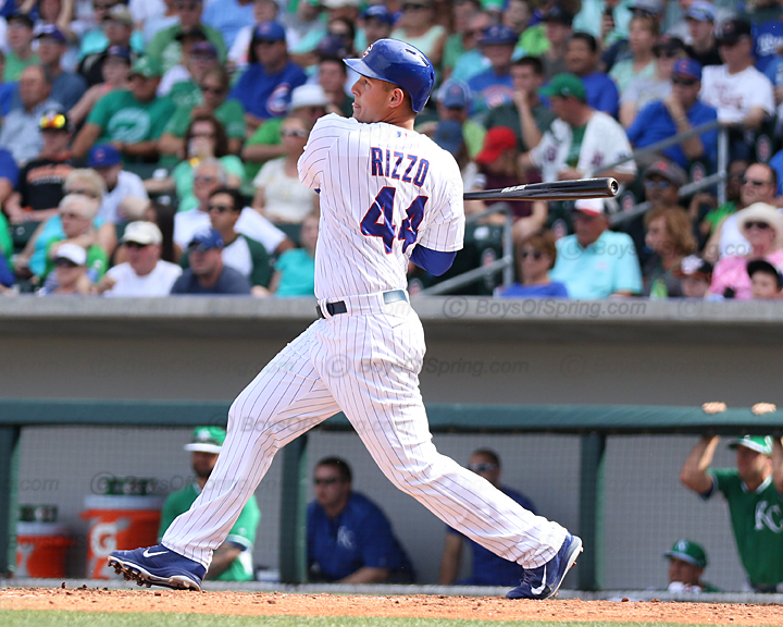 Anthony Rizzo was 2-2 with an RBI