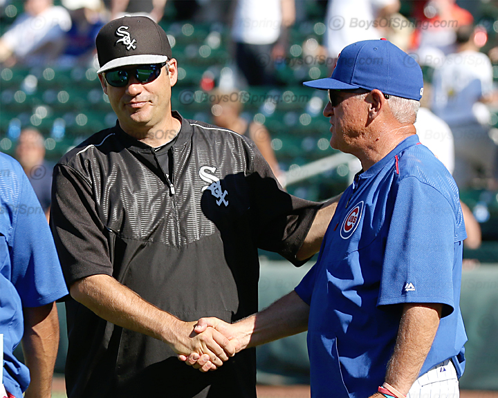 Robin Ventura and Joe Maddon shake hands after game