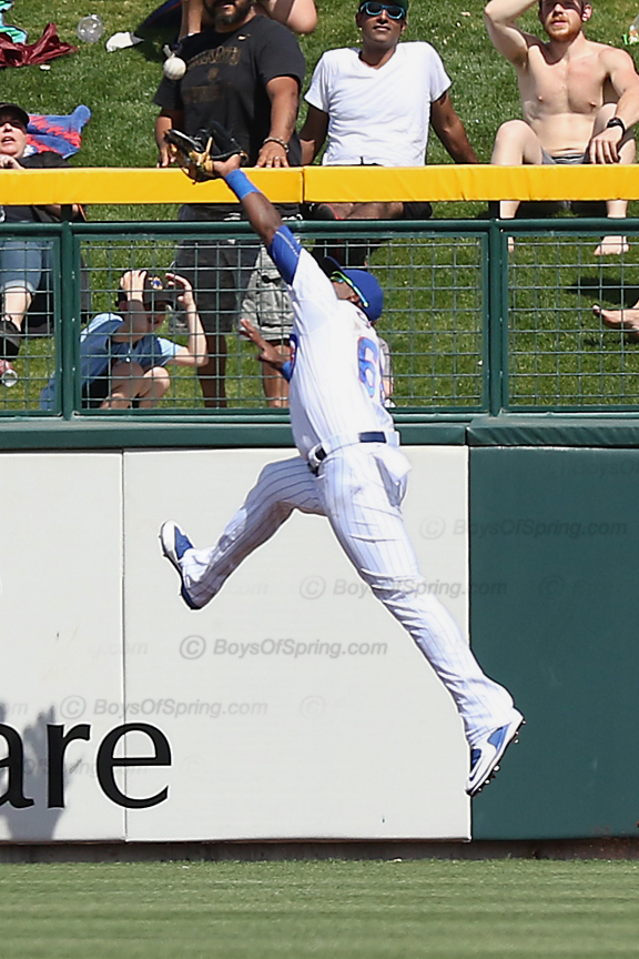 Soler goes airborn but can't catch it