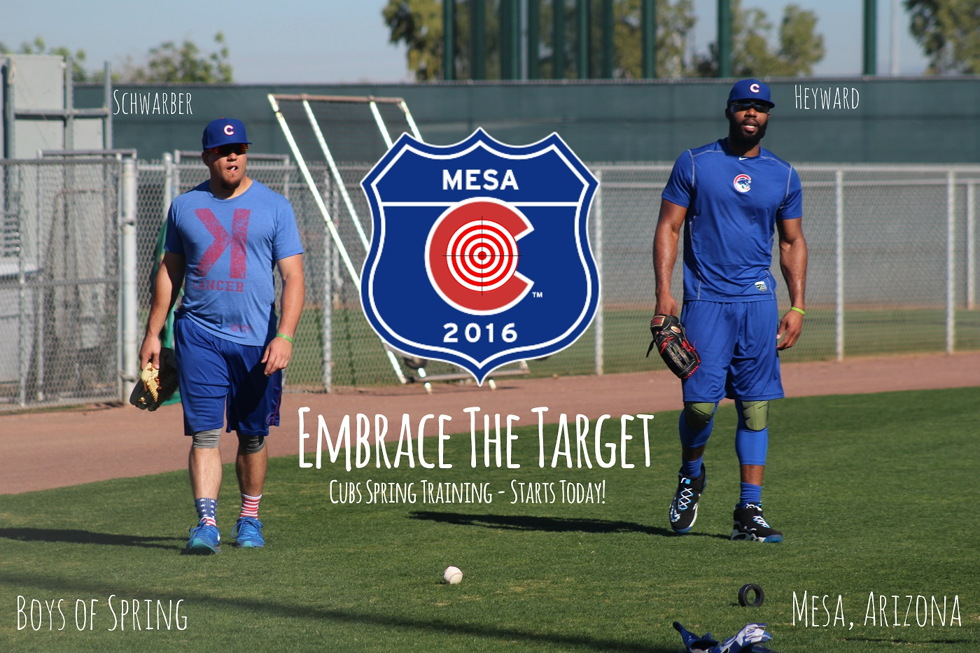 "Cubs start today looking to  ""Embrace the Target"""