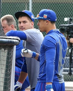 Albert Almora and Javier Baez Cubs