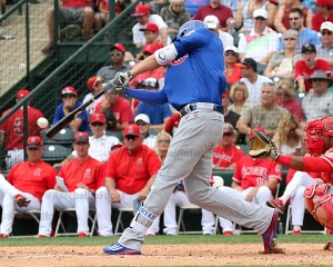 Kris Bryant with a triple