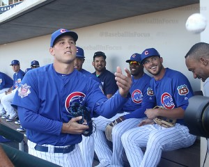 Rizzo tosses fan ball