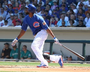 Dexter Fowler hit a HR before leaving with with tightness in his left side