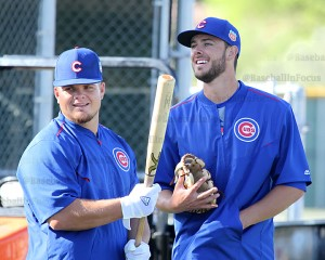 Cubs Kris Bryant and Dan Vogelbach