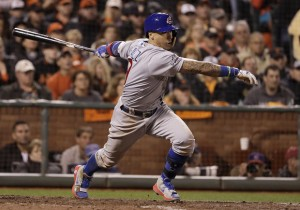 Javy singles in the game winner. (AP - Marcio Jose Sanchez)