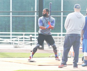 Cubs Jason Heyward works at Sloan Park 1-10-17