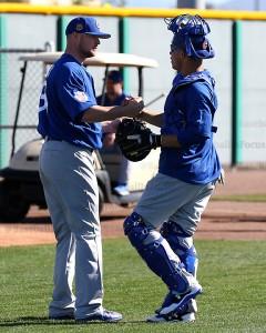Jon Lester and Willson Contreras Cubs