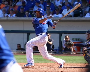 Addison Russell hits a two-run double