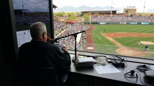 Dbacks spring P.A. man Bob Williams and the view