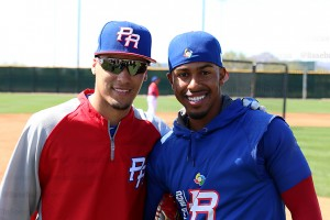 Now teammates, Javier Baez and World Series opponent Franciso Lindor