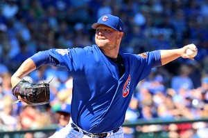Jon Lester on the bump