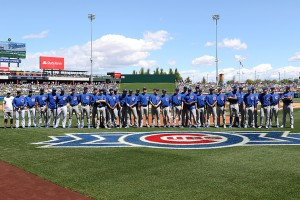 We honored Cubs Class A-Advanced two-time defending league champion Myrtle Beach before yesterday's game