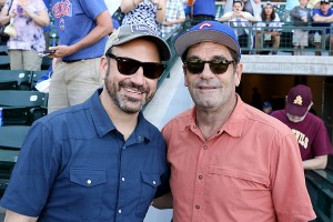 Jimmy Kimmel and Huey Lewis