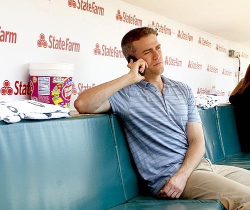 Theo on phone