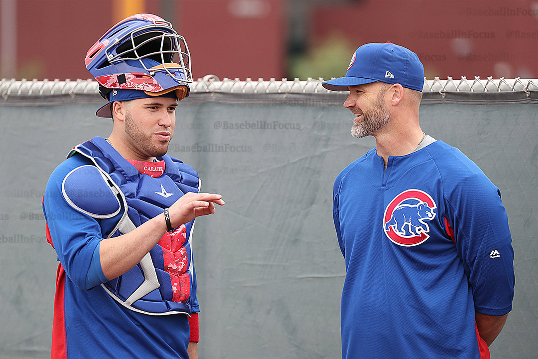 Victor Caratini and David Ross Cubs