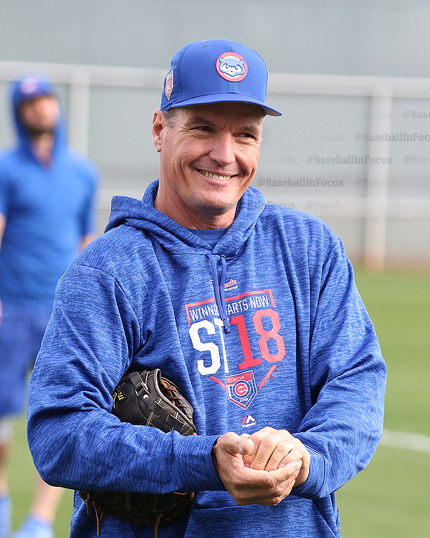New Cubs pitching coach Jim Hickey seems happy with his crew