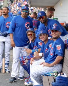 Cubs minor leaguers having fun