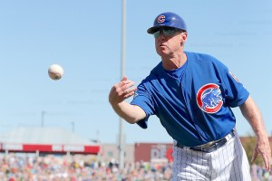 Cubs fans sang happy birthday to third base coach Brian Butterfield