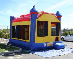 Mysterious bouncy house shows up at Sloan parking lot